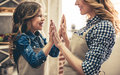 Mom And Daughter Baking Royalty Free Stock Photography - 89093257