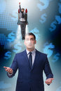 The Businessman In Start Up Business Concept Royalty Free Stock Images - 89094759