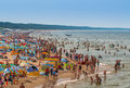 Miedzyzdroje-Poland - Crowded Beach In Summer Royalty Free Stock Images - 89096289