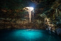 Sunbeams Penetrating In Opening Of Blue Cenote Stock Images - 89098064