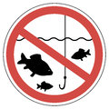 Sign Time Of Spawning, Fishing Is Prohibited, Fish Not To Catch Stock Photography - 89104592