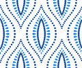 White Blue Dots Ogee Pattern Royalty Free Stock Image - 89112626