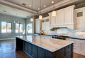 New Modern Home Mansion Kitchen Royalty Free Stock Photo - 89119415