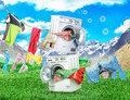 The Concept Of Big Washing. Stock Photography - 89122462