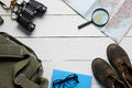 Top View Of A Travel Set With Copy Space Stock Image - 89132841
