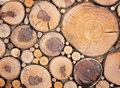 Cut Round Wood, Rustic Style Background Royalty Free Stock Images - 89163639