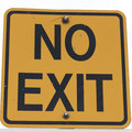 No Exit Sign Royalty Free Stock Image - 89167296