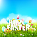 Cute Easter Template Royalty Free Stock Photo - 89168965