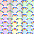 Set Rainbow Cloud. Seamless Pattern Abstract. On Background Colo Royalty Free Stock Photography - 89191667