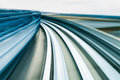 Motion Blurred Moving Train In Kobe, Japan Royalty Free Stock Photography - 89235807