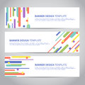 Banner Covers With Flat Geometric Pattern Stock Images - 89237824