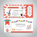 Circus Tickets Design Royalty Free Stock Image - 89238536