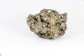 Beautiful Semiprecious Stone Pyrite On A White Background Stock Images - 89240364