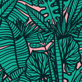Seamless  Tropical Pattern With Leaves. Royalty Free Stock Images - 89242789