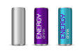 Vector Illustration Of Bright Energy Drink Cans Royalty Free Stock Photography - 89260647
