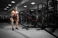 Young Man Working Out With Battle Ropes Royalty Free Stock Photo - 89261615