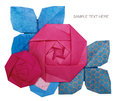 Origami Paper Pink Rose Royalty Free Stock Photography - 89271977