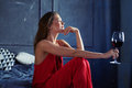 Thoughtful Female Holding Hand Near Chin And Looking Far Royalty Free Stock Photos - 89284028