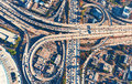 Aerial View Of A Freeway Intersection In Los Angeles Royalty Free Stock Photos - 89292348