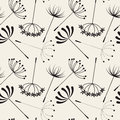 Abstract Dandelions Seamless Patterns Stock Image - 89292531