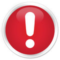 Exclamation Mark Icon Premium Red Round Button Royalty Free Stock Photos - 89296708