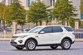 White Land Rover Discovery On The Road In Yiwu, China Royalty Free Stock Photos - 89300428