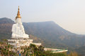 Five Big White Buddhas At Wat Phasornkaew Temple,A View Of Beauti Stock Images - 89305844