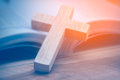 Wooden Christian Cross Stock Photography - 89309942