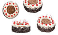 Collage Of The Black Forest Cake In Different Forms, Isolated Stock Images - 89319754