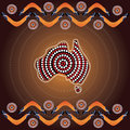 Aboriginal Art Vector Background. Stock Images - 89321304