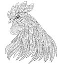 Rooster Head In Zentangle Style. Symbol Of Chinese New Year 2017. Adult Anti Stress Coloring Page Stock Photo - 89325850