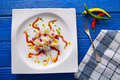 Ceviche Recipe Modern Gastronomy Style Royalty Free Stock Photo - 89328485