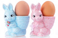 Egg Cups With Easter Bunny Royalty Free Stock Photo - 89329375