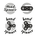 Hand Spinner Emblems Royalty Free Stock Photography - 89329877