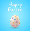 Easter Egg On A Blue Background Stock Photo - 89330120