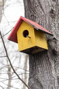 Colourful Handcrafted Wooden Birds House Royalty Free Stock Images - 89333449