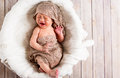 Crying Baby Boy In A Basket Stock Images - 89335384