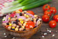 Salad Made Of Beans, Chickpeas And Corn Royalty Free Stock Photography - 89335487