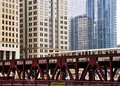 Moving Elevated El Train, Part Of Chicago`s Iconic Transit System Stock Image - 89348221