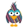 Colorful Caricature Bird With Texture Dots And Lines Design Stock Image - 89357591