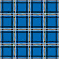 Vector Seamless Tiling Pattern With Checked Black And Blue Tartan Plaid Ornament. Stock Photography - 89363172