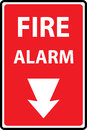 Fire Alarm Emergency Signs Royalty Free Stock Photo - 89372055