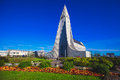 Hallgrimskirkja Cathedral In Reykjavik, Iceland, Lutheran Parish Church, Exterior In A Sunny Summer Royalty Free Stock Photography - 89372367