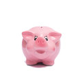 Pink Piggy Bank From The Front Stock Photography - 89378652