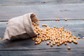 Soya Beans In A Sack Stock Photo - 89380900