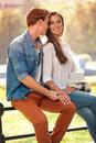 Beautiful Couple In Park Royalty Free Stock Photography - 89381887