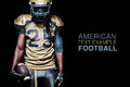 American Football Sportsman Player Isolated On Black Background Royalty Free Stock Images - 89382359