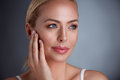 Pretty Middle Age Woman With Perfect Skin Stock Photography - 89384202