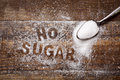 Text No Sugar Written With Sugar Royalty Free Stock Image - 89391166
