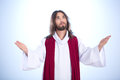 Calm Jesus With Open Arms Stock Photography - 89393392